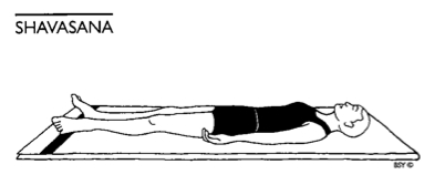 Posture Lie Down Comfortably In Shavasana Corpse Pose Illustrated Below